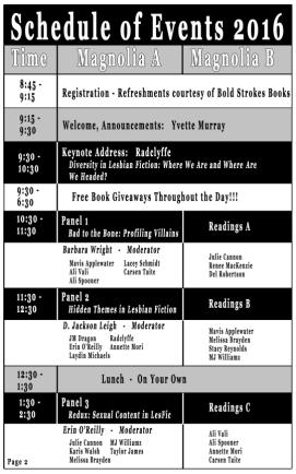 2016 lonestar schedule