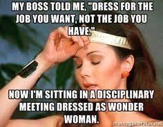 wonder woman dress for job